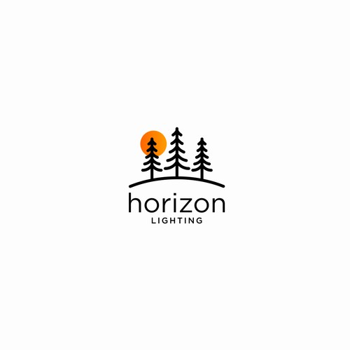 "Simple Logo Design For "" Horizon Lighting """