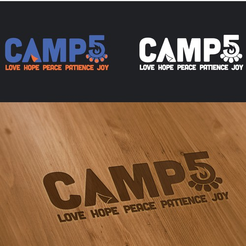Create a trendy, youthful logo for a fun summer camp targeting underprivileged kids