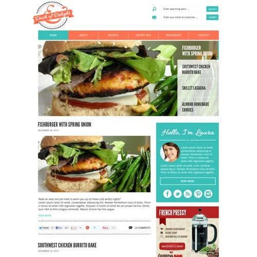 Create a winning Food Blog Design