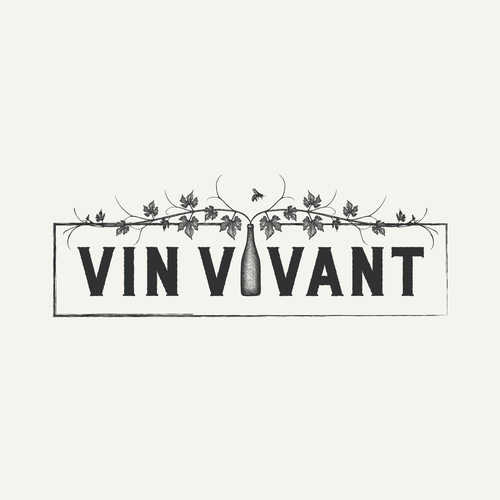 Vintage-inspired logo for boutique French wine importers.