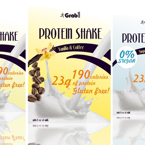 Create a Winning design for a protein shake box