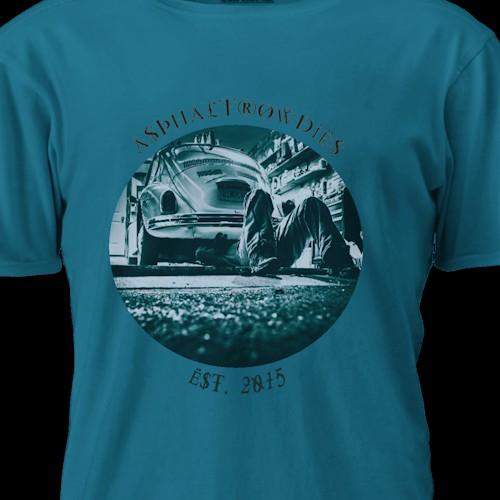 Tee shirt design entry for AsphaltRowdies