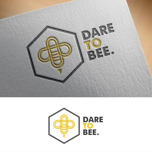 Modern and Bold Logo for DARE TO BEE.