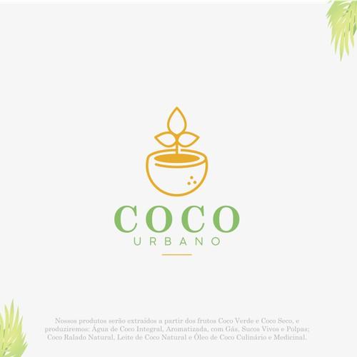 Crie um design de logotipo moderno para Coco Urbano