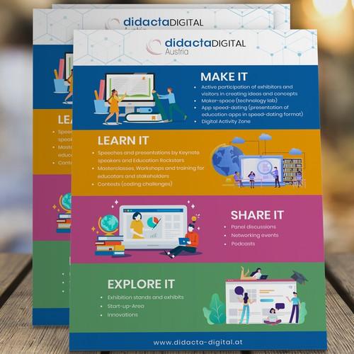 Create a fresh corporate design for Education Festival