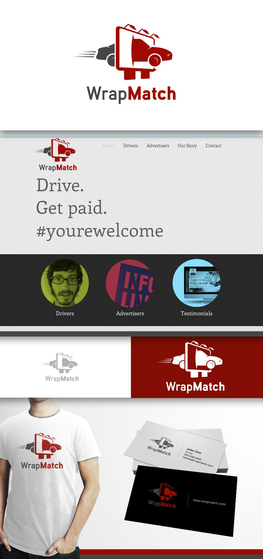 Create the next logo for WrapMatch.com