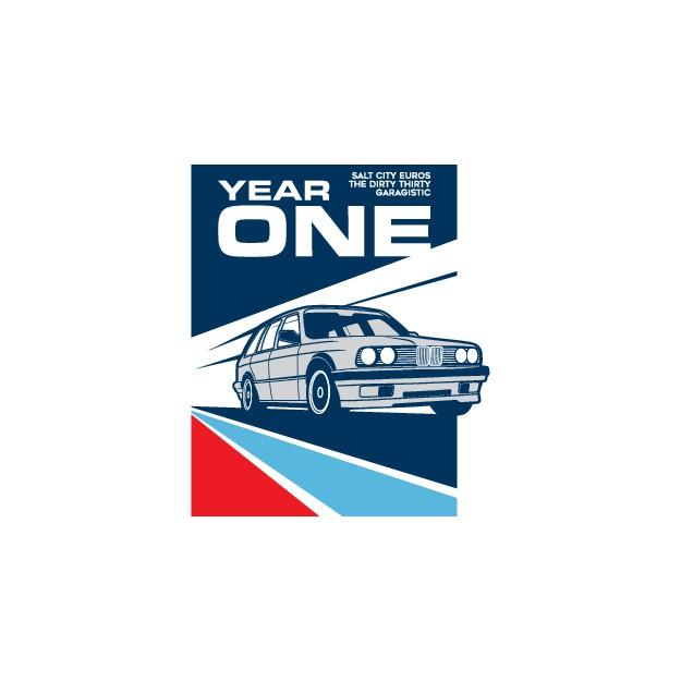 The Dirty Thirty / Salt City Euro / Garagistic First Annual Show Logo