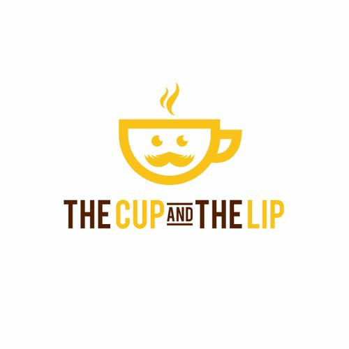 Mustache mug logo