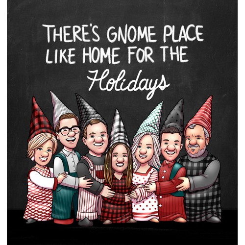 Holiday framed poster