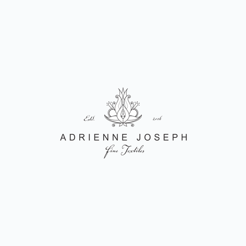 Antiquities and fine textile logo design