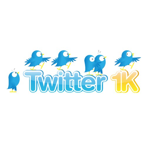 Twitter 1k - Follower Adding Service Needs Some Logo Love