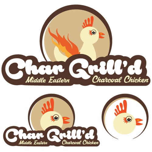 Logo options for Char Grill'd