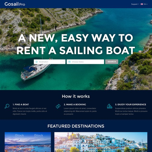 Online sailing boat booking agency