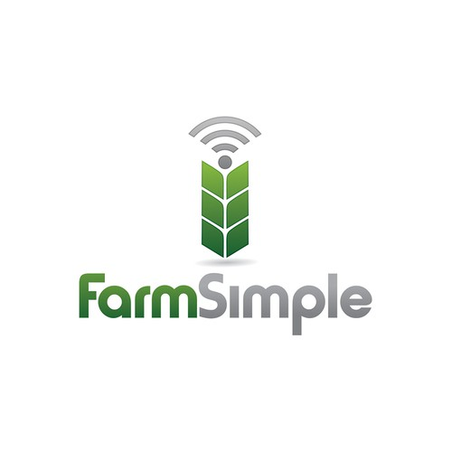 Simple bold logo for farming