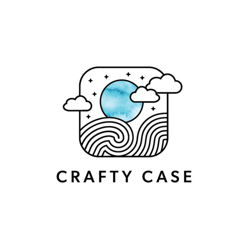 Contest holder requested a playful logo with waves and clouds