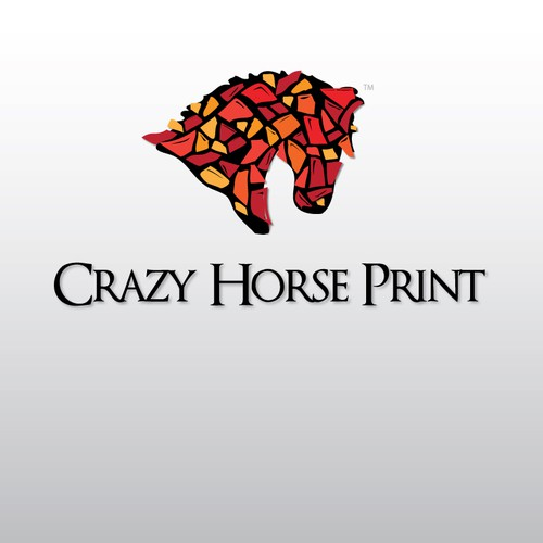 Create the next logo for Crazy horse print