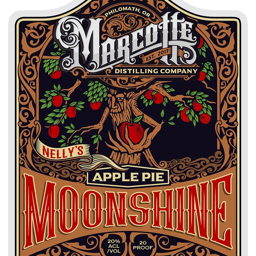 label for, Nelly's Apple pie Moonshine