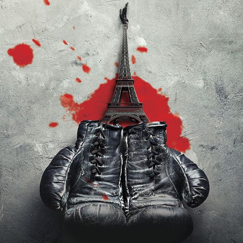Thriller book cover about boxing in Paris underground