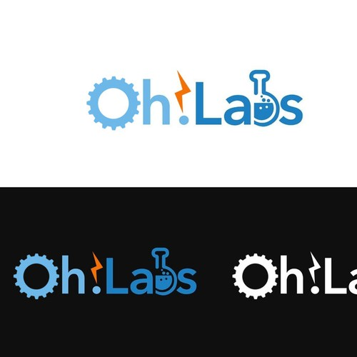 "Create a capturing logo for ""Oh! Labs"""
