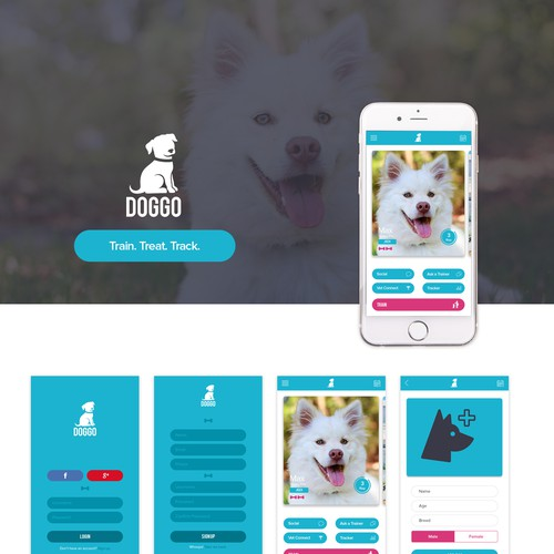 Doggo iPhone App Screens