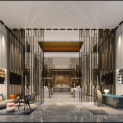 some lobby hotel on japan