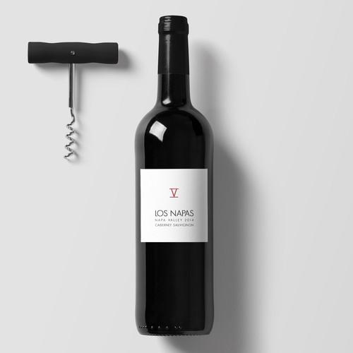 Los Napas Wine Bottle