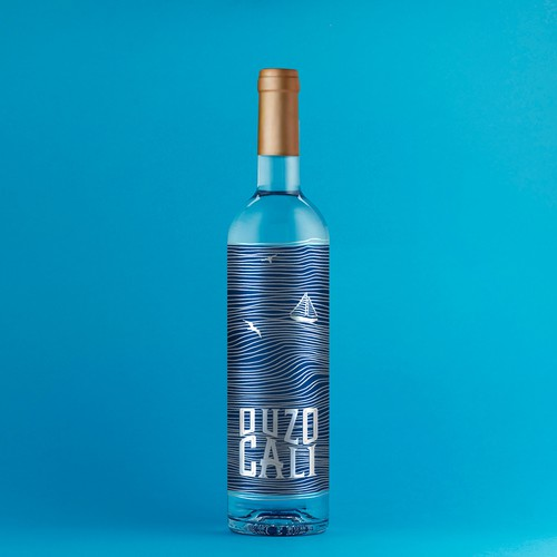 Ouzo label design