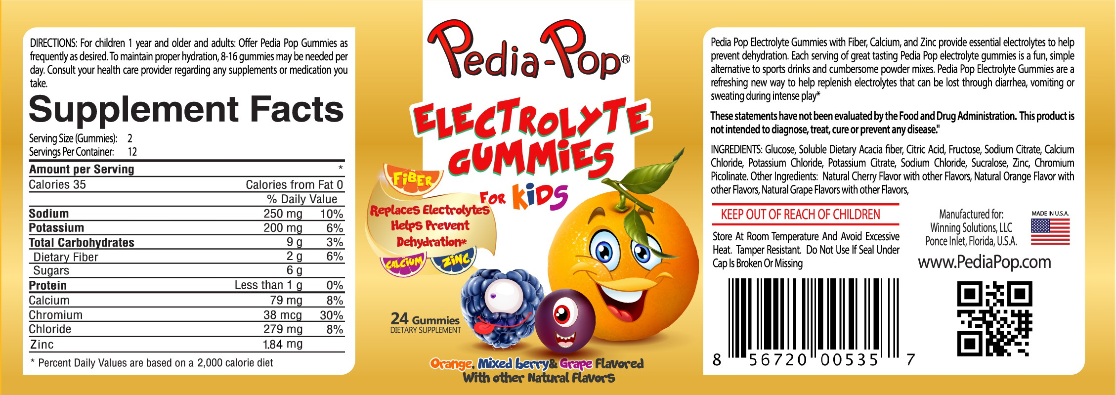One of a kind electrolyte gummie for Kids needs a new label!