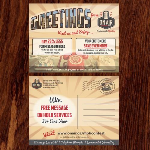 Retro postcard design