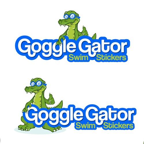 Goggle Gator Swim Stickers