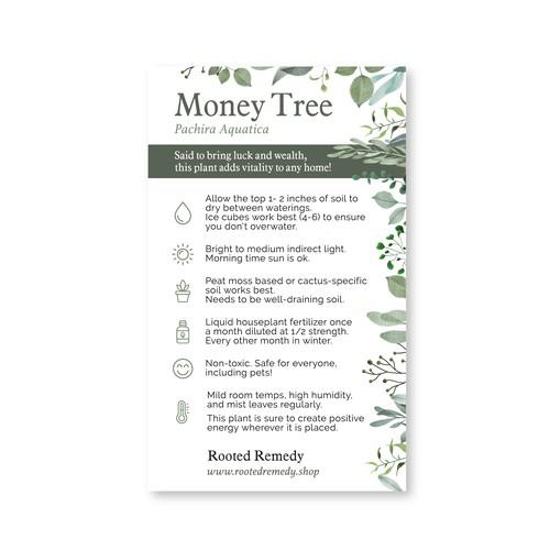 Design of plant care card