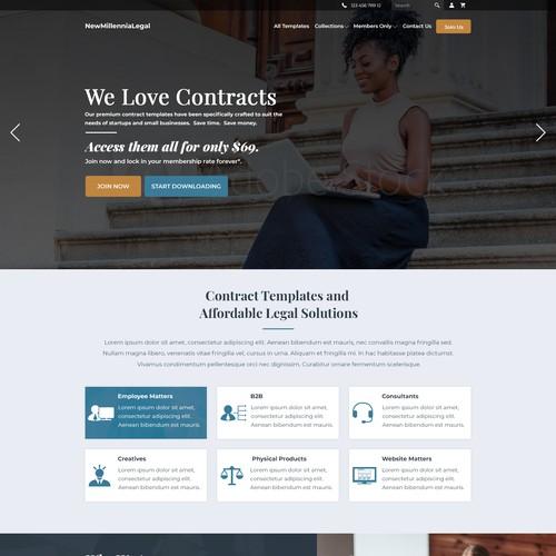 Design for legal membership webpage