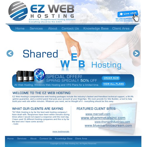 Ez Web Hosting Inc needs a new website design