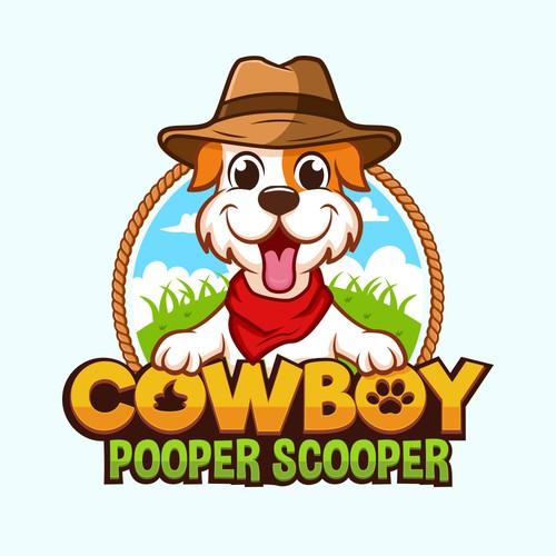 Cowboy Dog Cartoon Logo