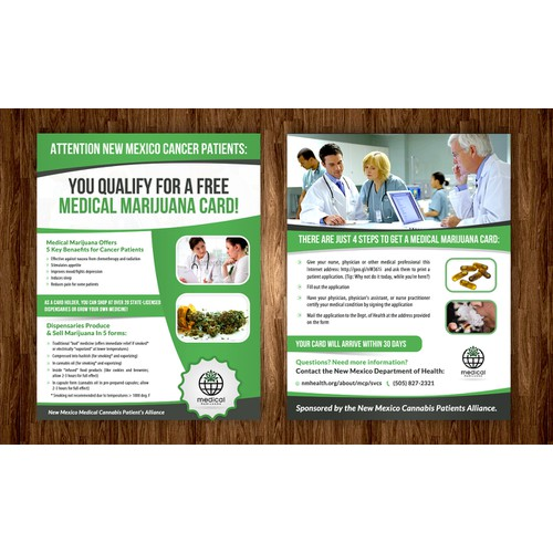 Medical Marijuana Flyer for Cancer Patients