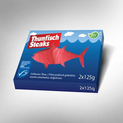 Packaging for tuna steaks