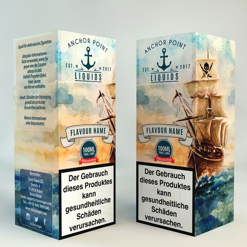 Anchor Point Liquids Box Design.
