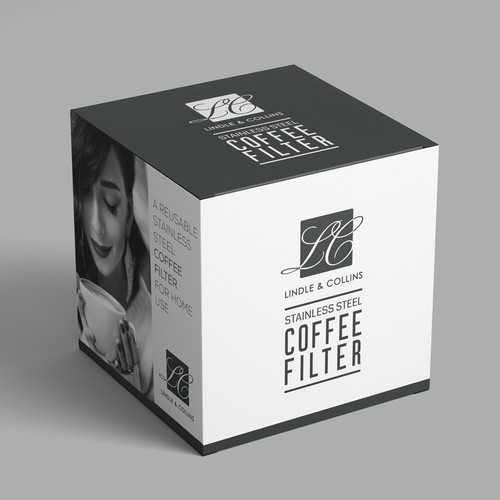 Packaging design for Lindle & Collins Stainless Steel Coffee Filter