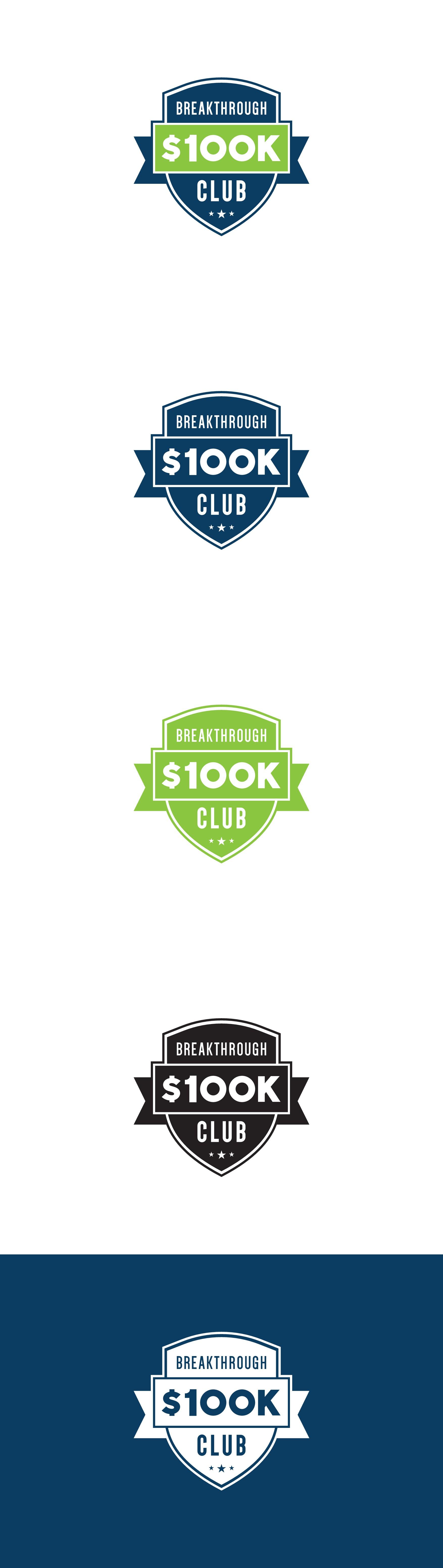 Breakthrough 100k Club Logo Design