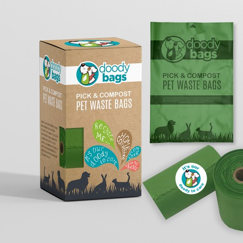 Packaging from recycled paper