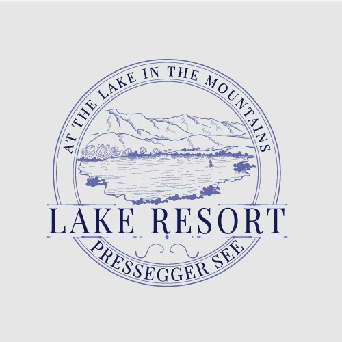 Logo concept for lake resort