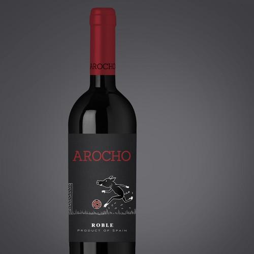 Arocho Wine Label Design