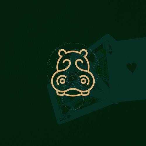 The logo concept for the Lucky Hippo Casino