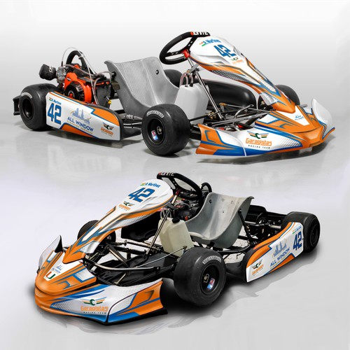 Racing Kart wrap design