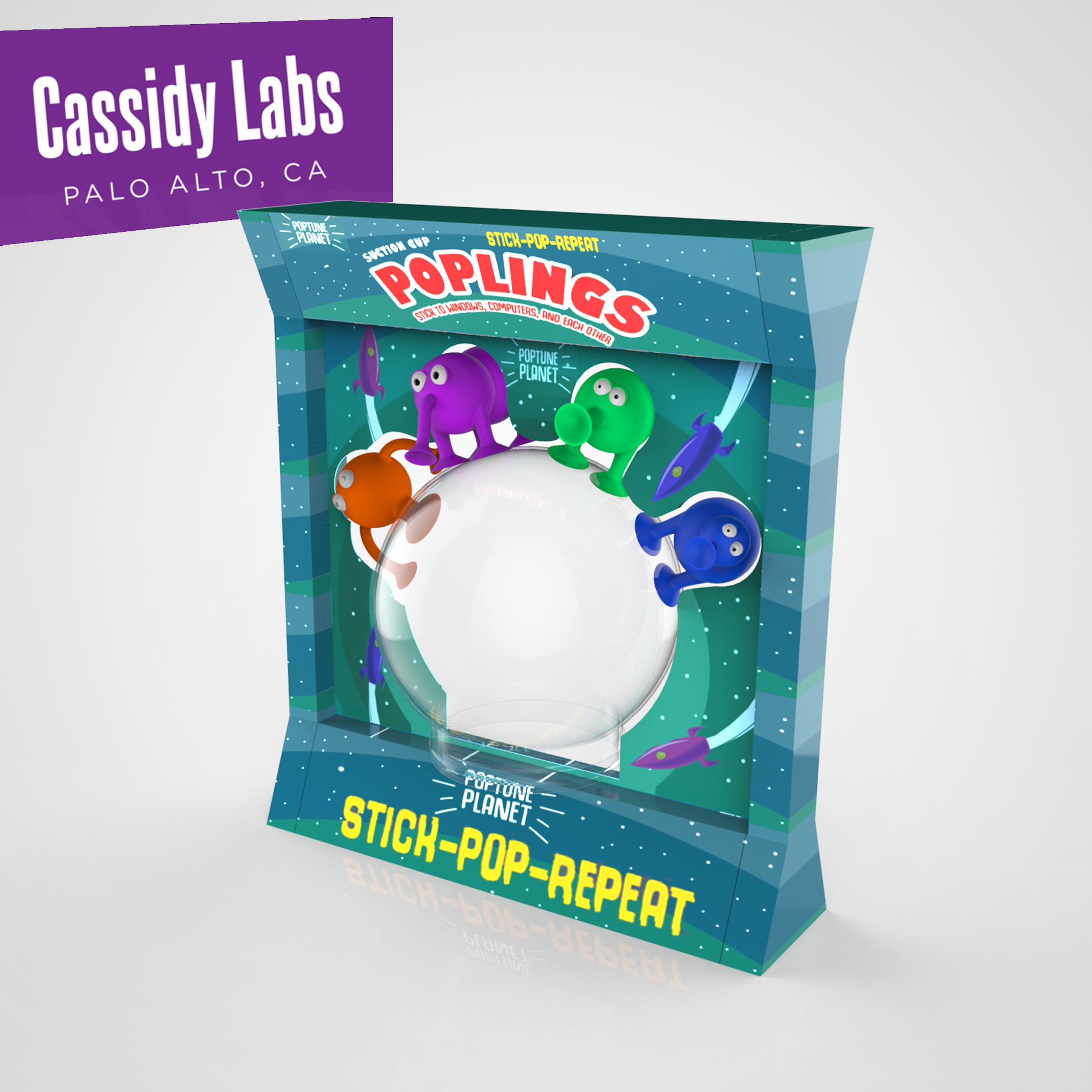 4 Poplings Blister Packaging Render