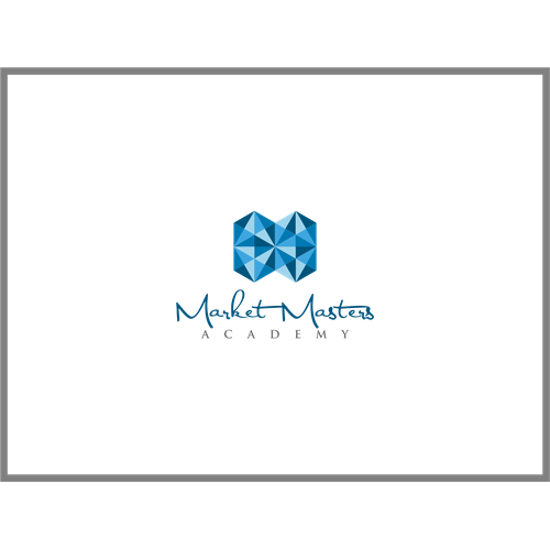 Create an abstract geode diamond logo that has an upscale feel for anup and coming online trading academy