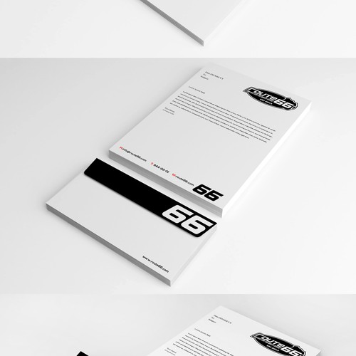 Elegant stationery for Route66