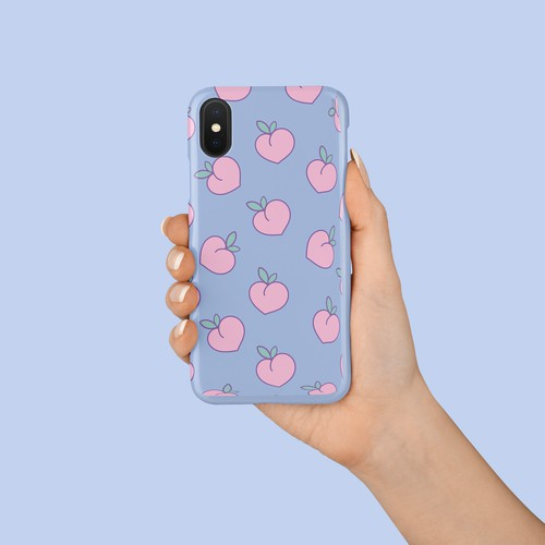 Phone case design with pattern