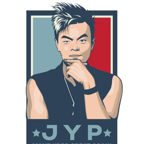 Vector illustration of a Kpop celebrity