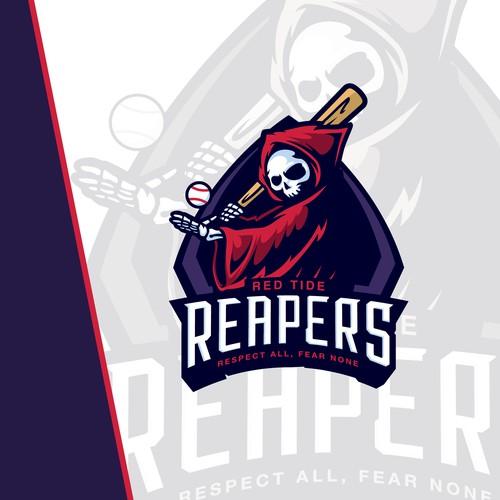Reaper Baseball Sport Logo